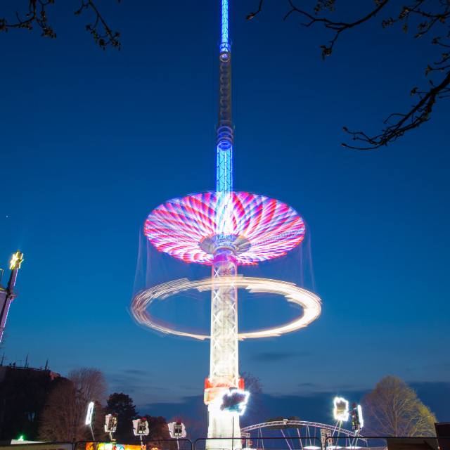 """Long exposure at fair ground 2"" stock image"