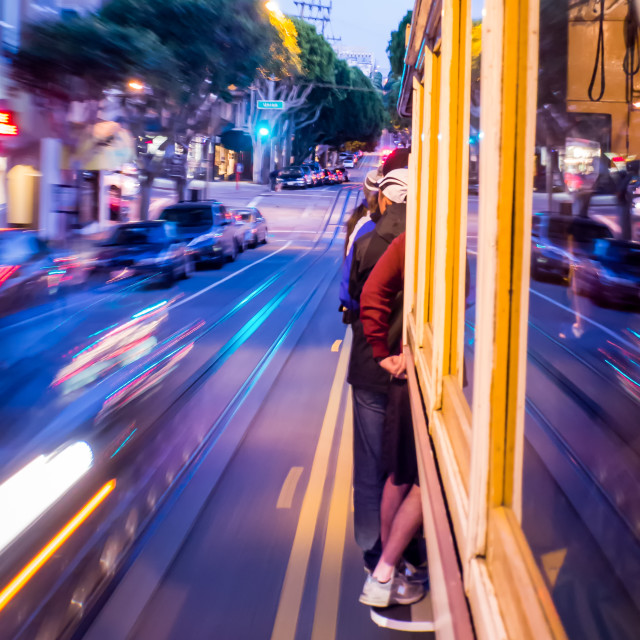 """Frisco Cable Car moment"" stock image"