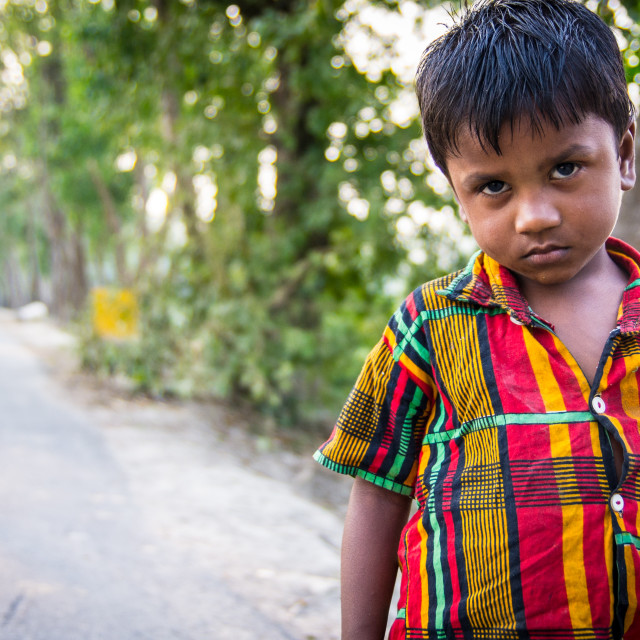 """Bangladeshi poor boy"" stock image"