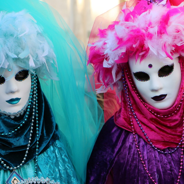 """Carnival iv Venice, hot and cold, mask"" stock image"