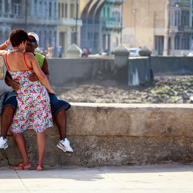 """""""Love on The Malecon"""" stock image"""