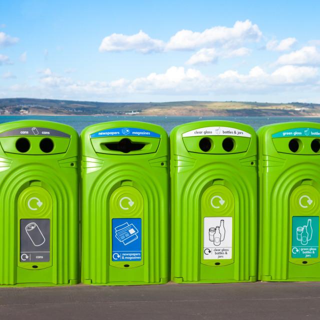"""Recycling Bins"" stock image"