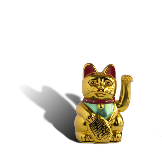 """Maneki-neko welcoming cat"" stock image"