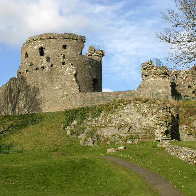 """""""Dundrum Castle in Northern Ireland"""" stock image"""