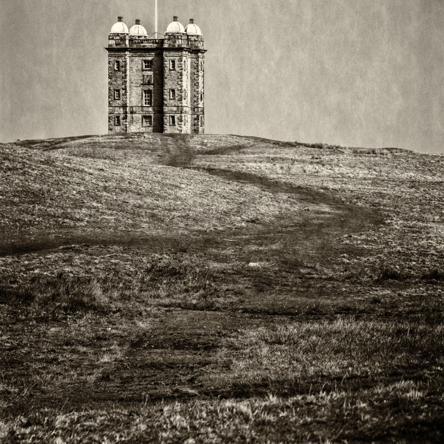 """Lyme Park Folly"" stock image"