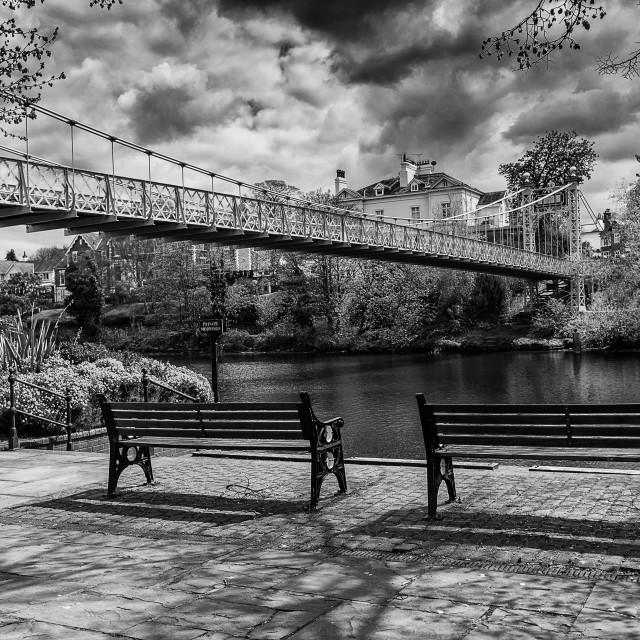 """""""The bridge."""" stock image"""