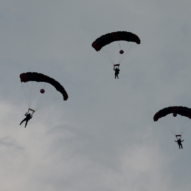 """""""Skydivers in Formation"""" stock image"""