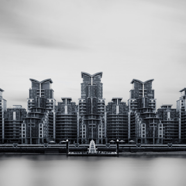 """St George Wharf"" stock image"
