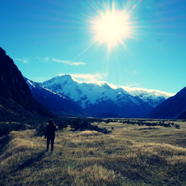 """Exploring Mt Cook"" stock image"
