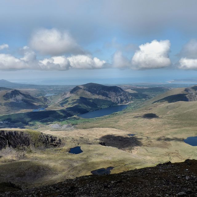 """View From Mount Snowdon"" stock image"