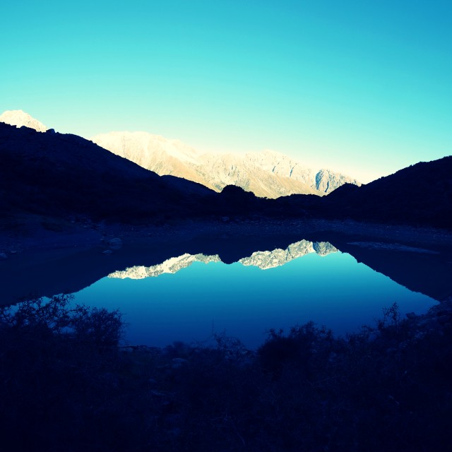 """Mt Cook Reflection"" stock image"