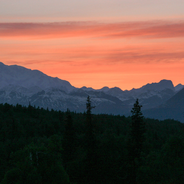 """Mount McKinley, Alaska"" stock image"
