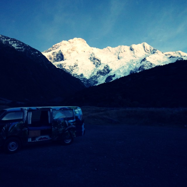 """Mt Cook in the Morning"" stock image"
