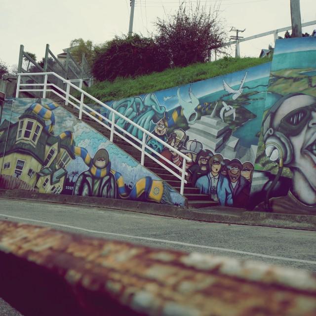 """""""New Zealand Graffiti"""" stock image"""