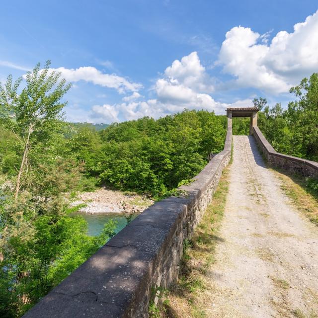 """old passage on the bridge"" stock image"