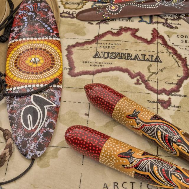 """Aboriginal artwork"" stock image"