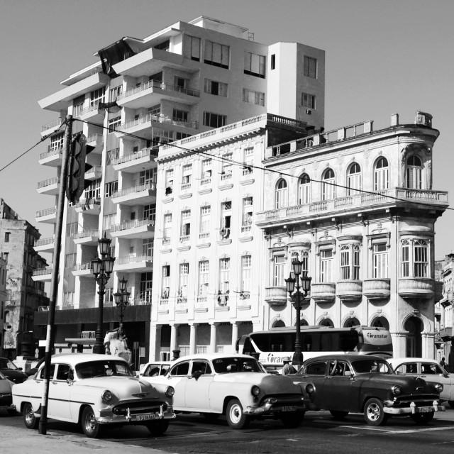 """Old cars, Havana, Cuba"" stock image"