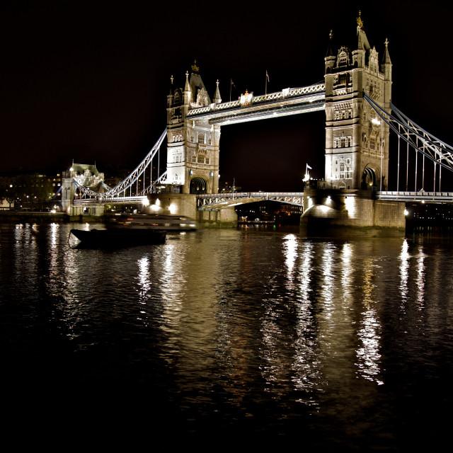 """London Tower Bridge at Night"" stock image"