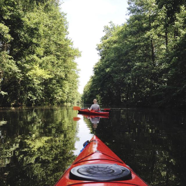 """""""Kayaking"""" stock image"""