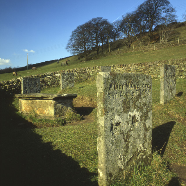 """Eyam, Riley Graves, Derbyshire"" stock image"