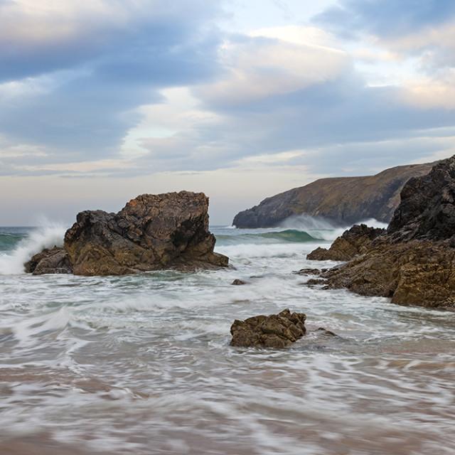"""Sango Bay, Durness Sutherland Scotland"" stock image"