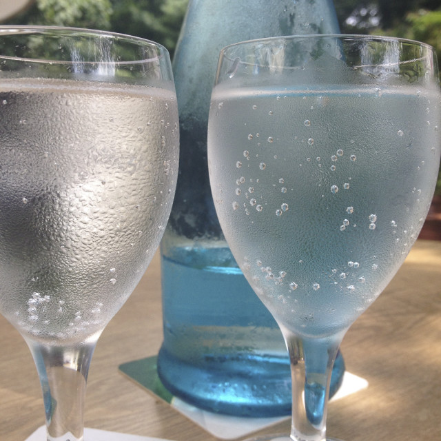 """""""Two glasses of cold Water"""" stock image"""