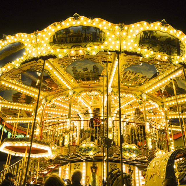 """old-fashioned style carousel"" stock image"