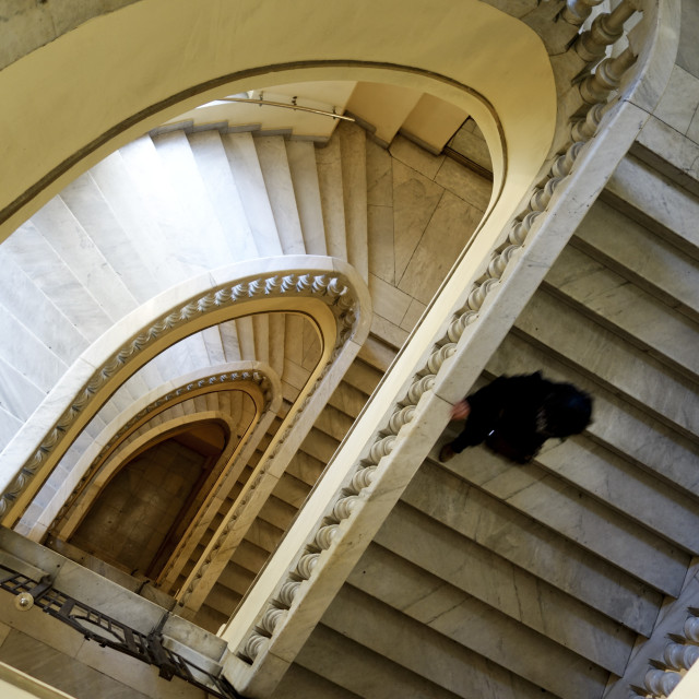 """""""Staircase downwards"""" stock image"""