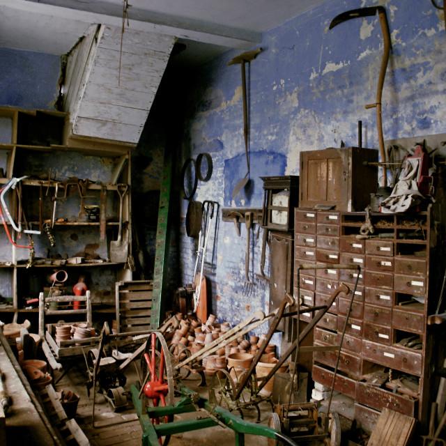 """""""Potting shed"""" stock image"""