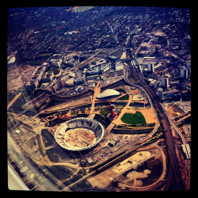 """""""olympic site from the sky"""" stock image"""