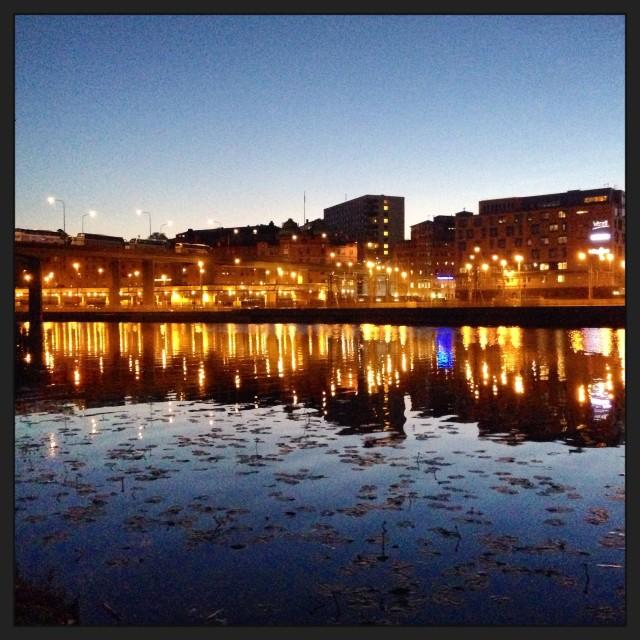 """stockholm at night"" stock image"