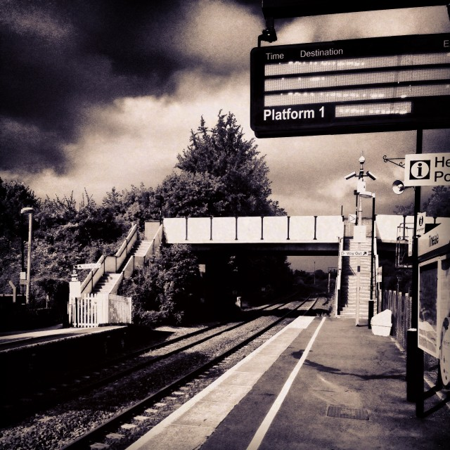 """""""theale station"""" stock image"""