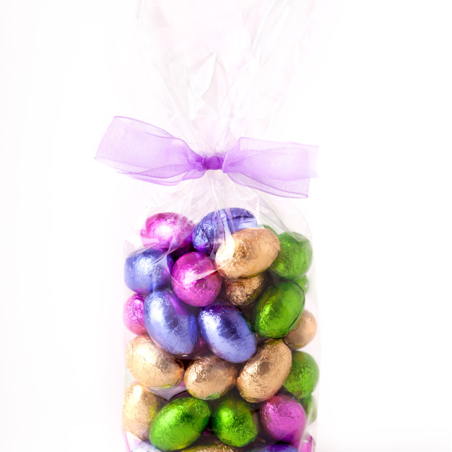 """Chocolate Mini eggs"" stock image"