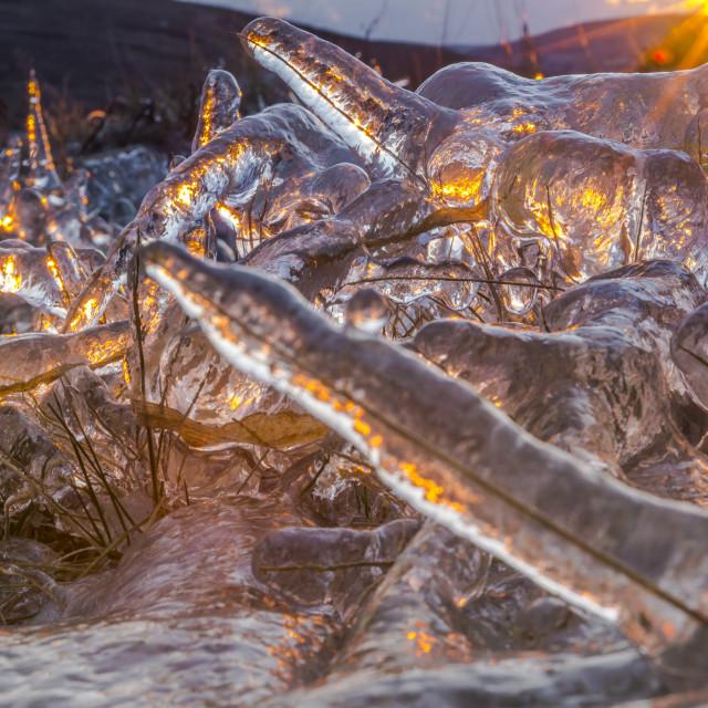 """""""Icy Sunrise."""" stock image"""