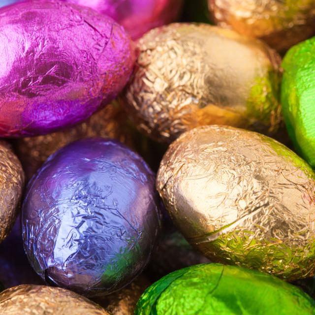 """Chocolate Mini eggs"" stock image"