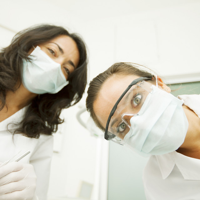 """Two Female Dentist"" stock image"