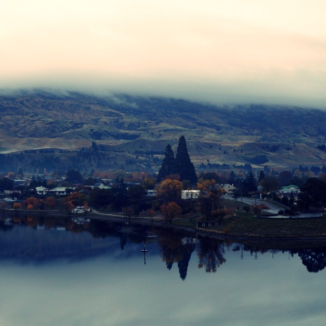 """""""Reflection over Cromwell"""" stock image"""