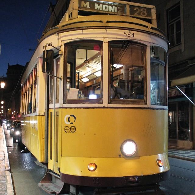 """Tram 28"" stock image"