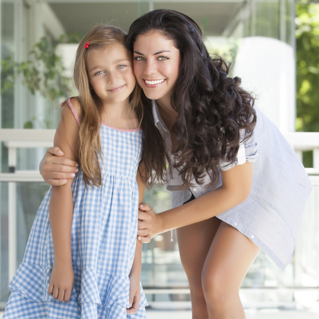"""Beautiful mother with her daughter"" stock image"