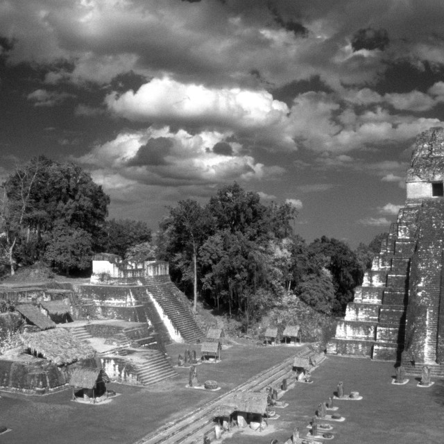"""Great Plaza, Tikal, Guatemala"" stock image"
