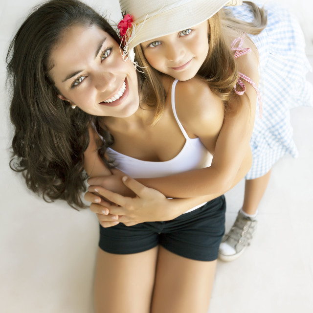 """Gorgeous mother and daughter"" stock image"