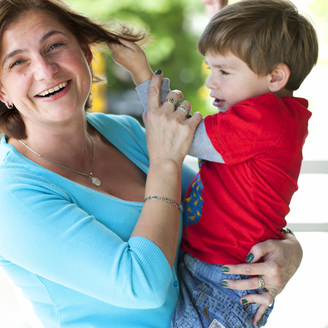 """Mother with her little boy"" stock image"