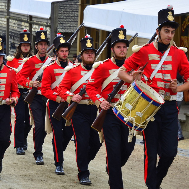 """""""the Redcoats is comin'........"""" stock image"""
