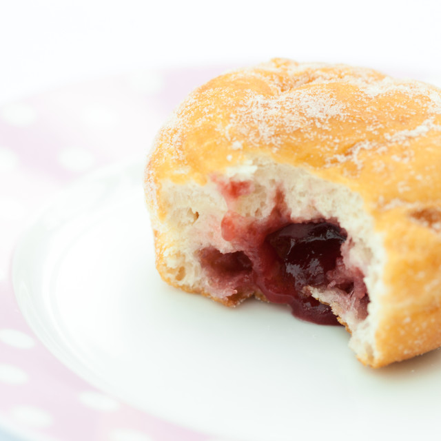 """Jam doughnut"" stock image"