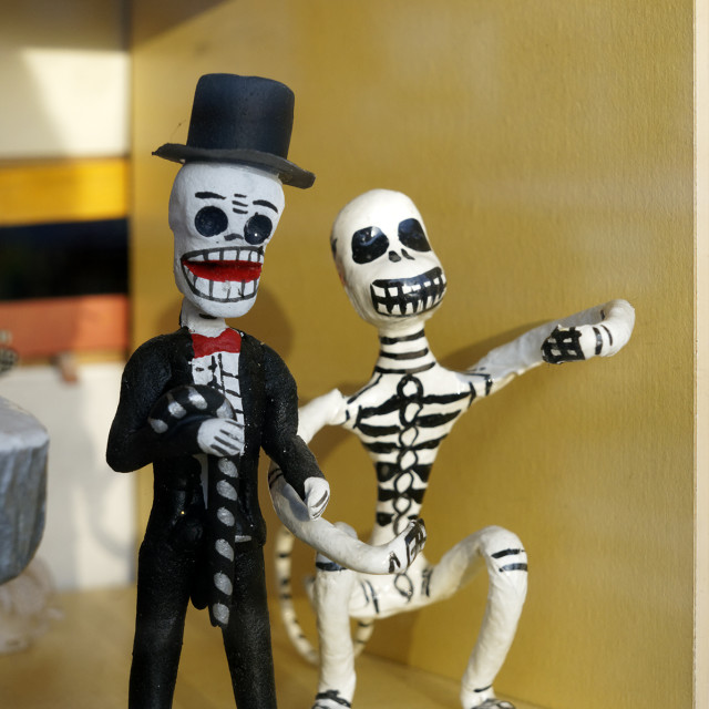 """Mexican skeleton figurines"" stock image"