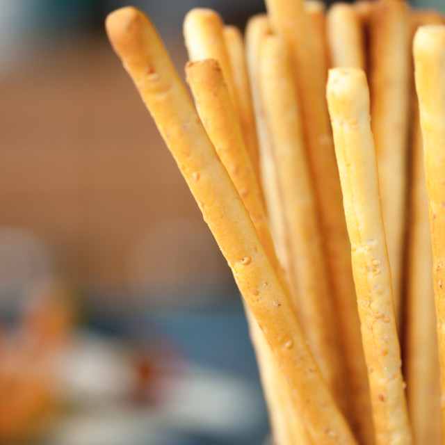 """Bread Sticks in a Jar"" stock image"