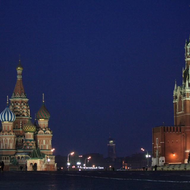 """Kremlin at night 1"" stock image"