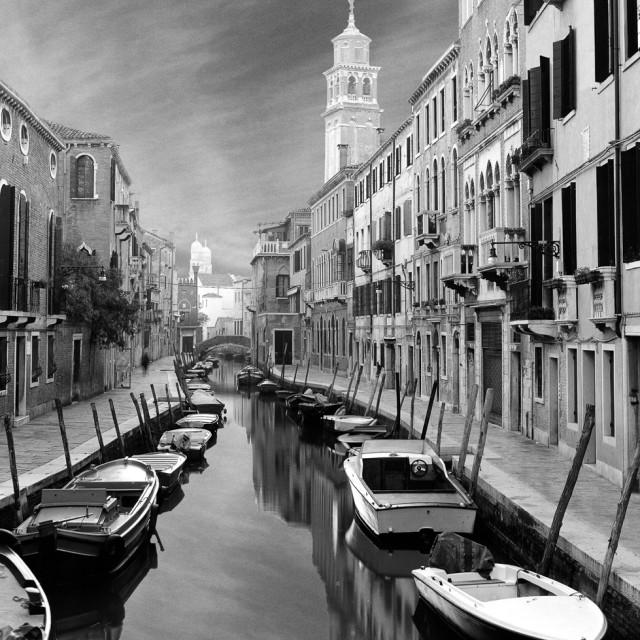 """Fondemente Gheradin, Venice"" stock image"