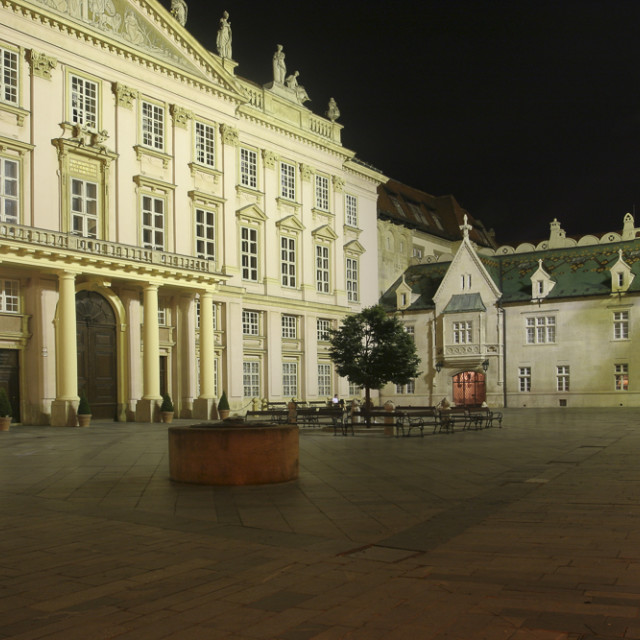 """""""Primate's Palace and Old Town Hall , Bratislava"""" stock image"""