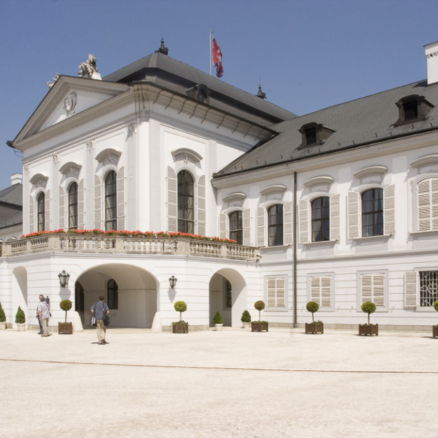 """Presidential Palace, Bratislava"" stock image"